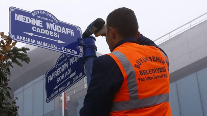 Büyükelçilik sokağına Fahreddin Paşa tabelası