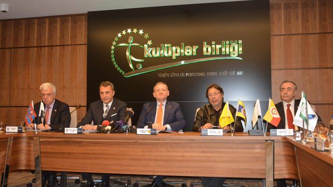 Beşiktaş Başkanı 'Kulüpler'in başında