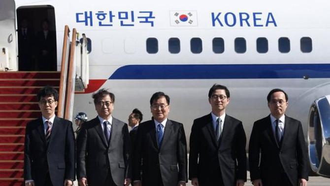 Güney Koreli üst düzey heyet Kuzey Kore'de