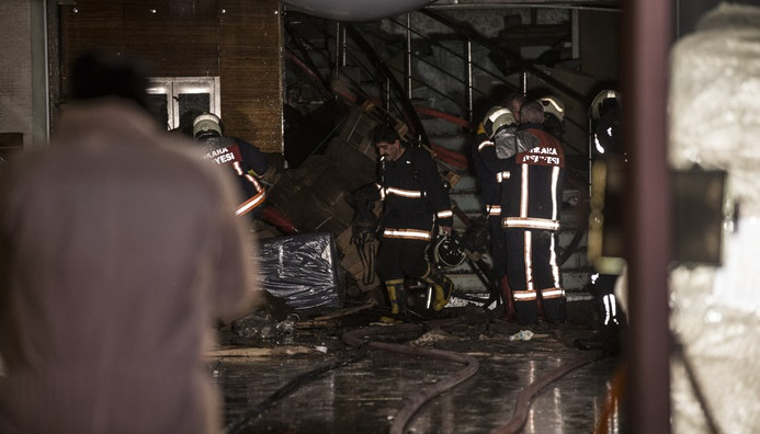 Ankara Siteler'deki yangında 5 işçi öldü