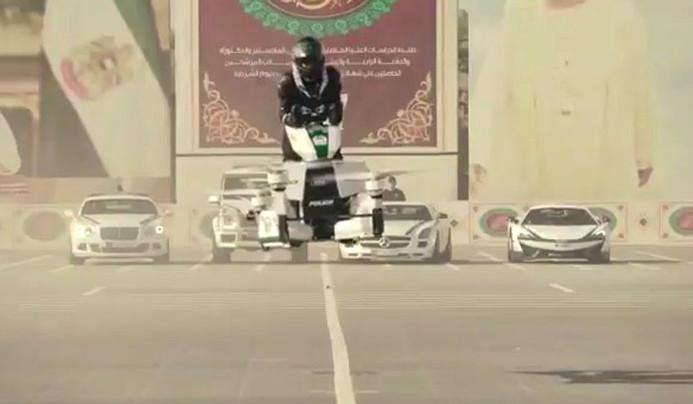 Dubai polisine uçan motosiklet