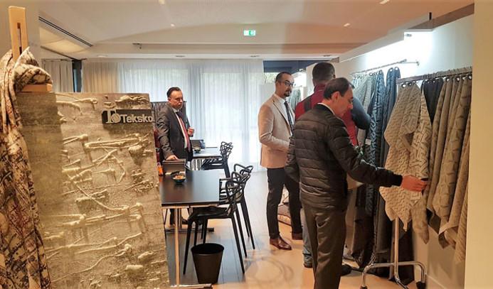 Ev tekstilcileri modanın merkezi İtalya'da alıcılar ile buluştu