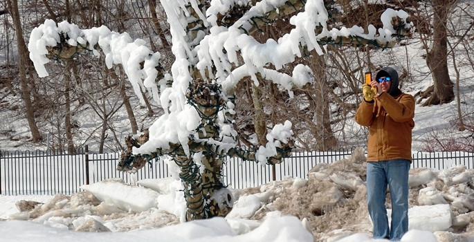Amerika'da donduran kış
