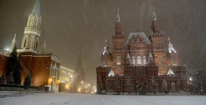 Moskova beyaza büründü