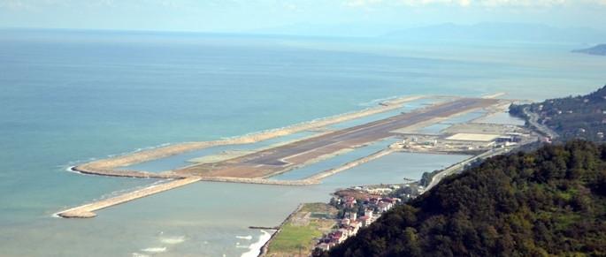 Denizdeki havalimanının yüzde 60 tamamlandı