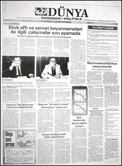 Ekonomi gazeteciliğinde 35 yılın kısa tarihi