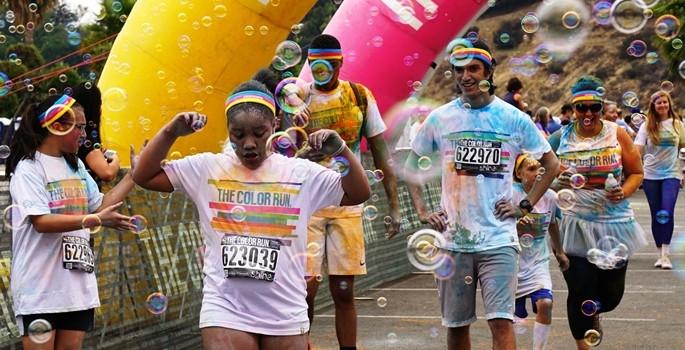 ABD'de renkli koşu