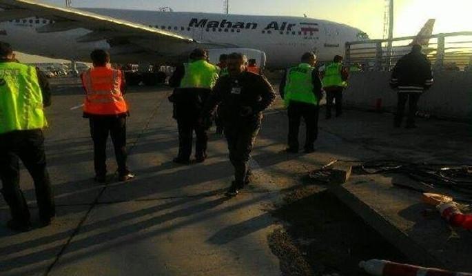 İran uçağı bariyerlere çarparak durdu