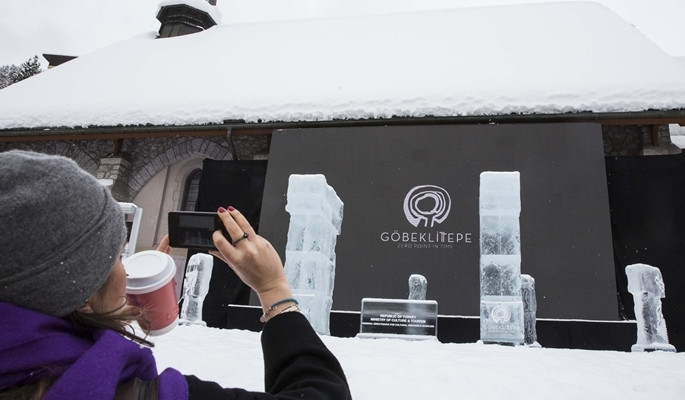 Göbeklitepe Davos'ta görücüye çıktı