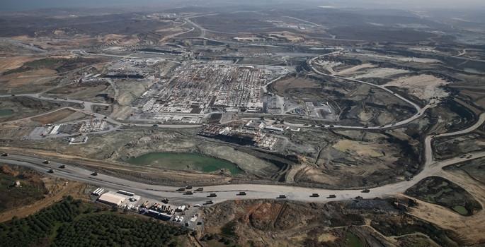 Türkiye'deki dev projede 12,6 bin kişi çalışıyor