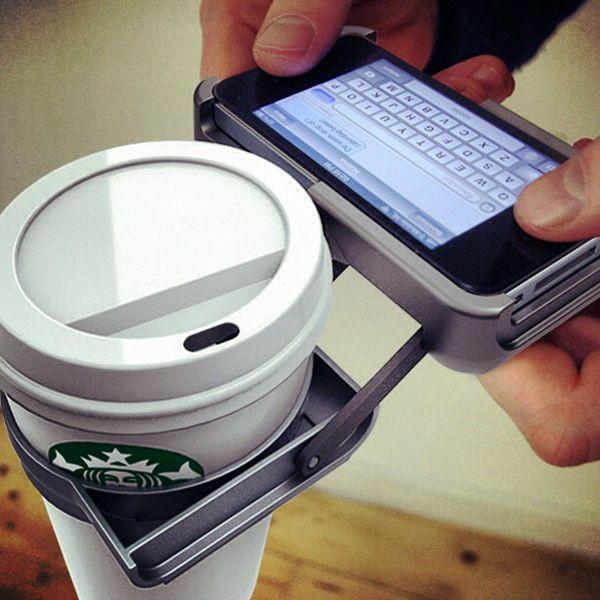 Yürürken kahvenizi dökmeden mesaj atın