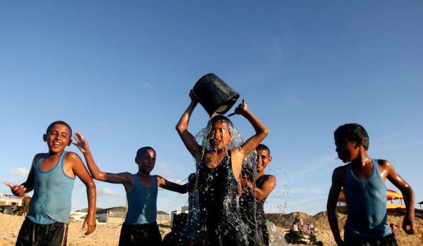 Gazze'de sıcak hava