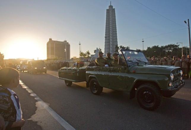 Castro'nun külleri 800 kilometre dolaştı
