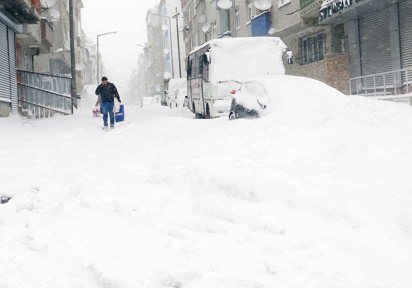 İstanbul'da ilçelere göre kar kalınlığı