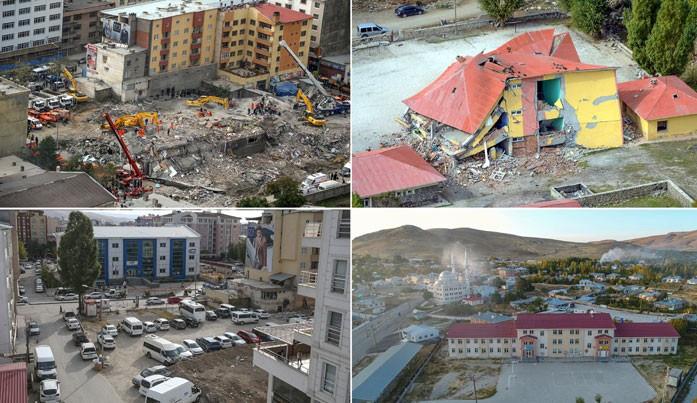 Van'da depremin izleri silindi
