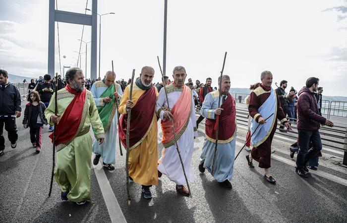 İstanbul maratonundan renkli kareler