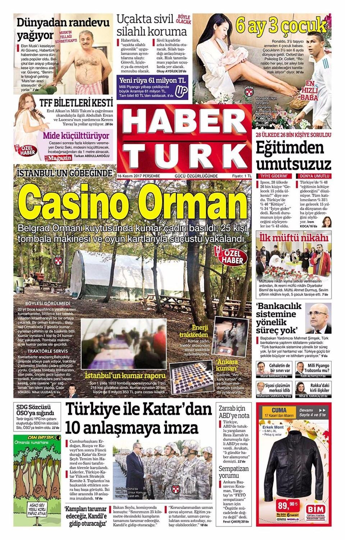 Günün gazete manşetleri (16 Kasım 2017)