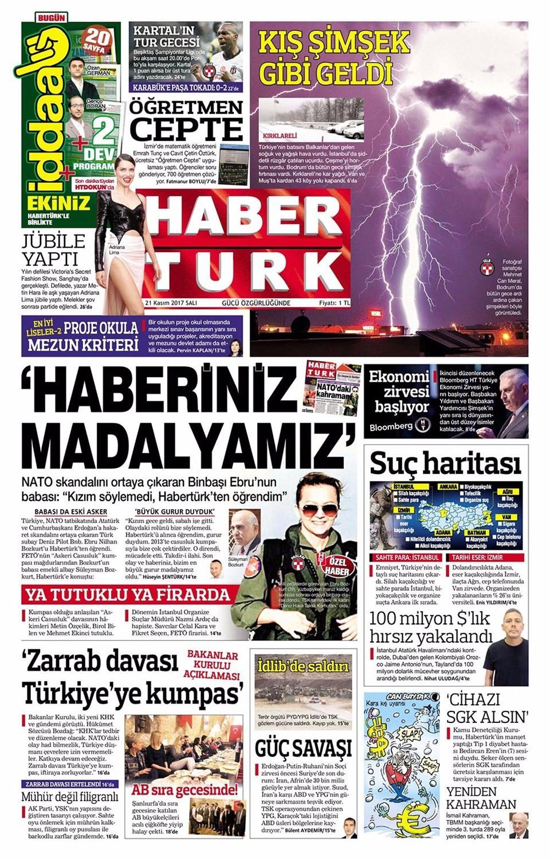 Günün gazete manşetleri (21 Kasım 2017)