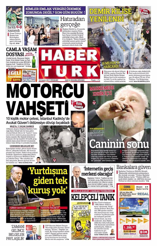 Günün gazete manşetleri (30 Kasım 2017)