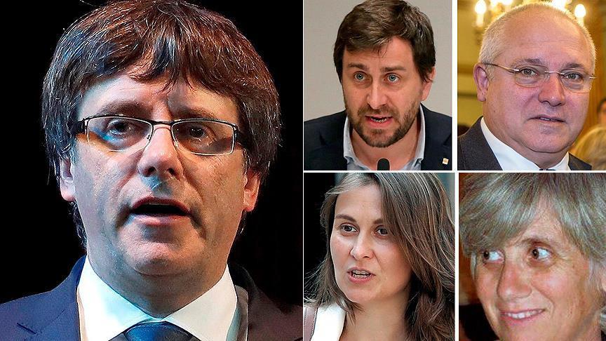 Eski Katalan lider ve 4 bakan için tahliye kararı