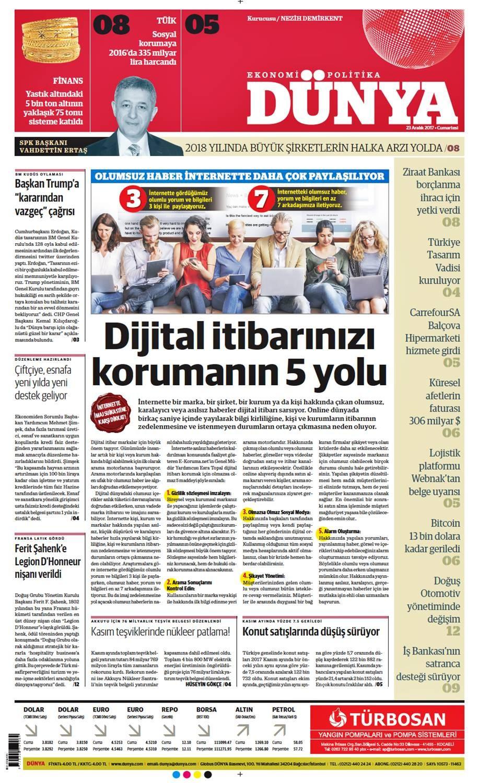 Günün gazete manşetleri (23 Aralık 2017)