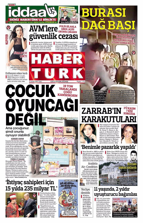 Günün gazete manşetleri ( 5 Aralık 2017)