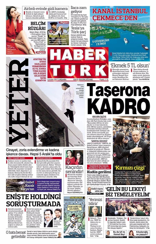 Günün gazete manşetleri ( 6 Aralık 2017)