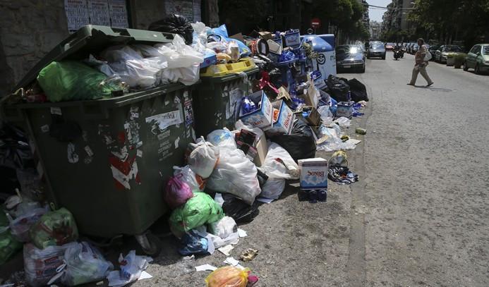 Yunanistan'da 'çöp krizi'