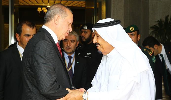 Erdoğan, Suudi Arabistan'dan ayrıldı