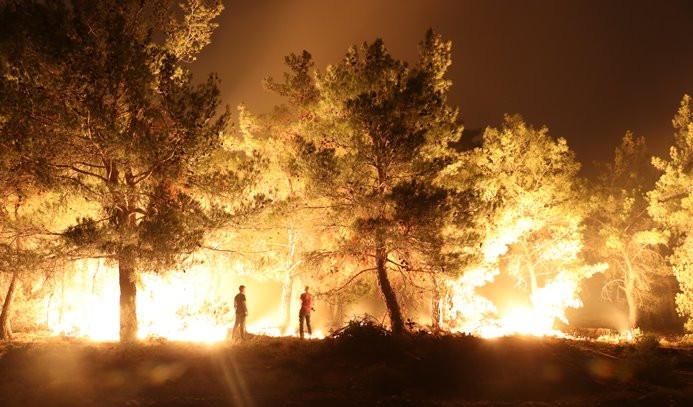 İzmir'deki yangın Manisa'ya ulaştı