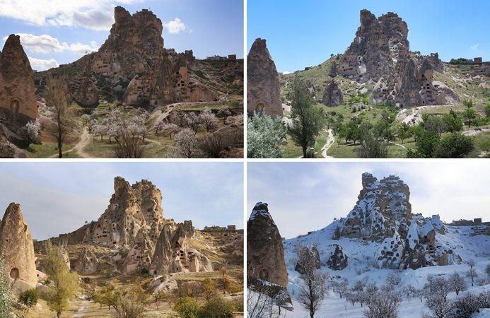 Kapadokya'da dört mevsim