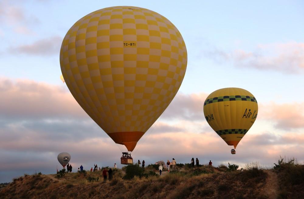 Kapadokya turizmini balonlar uçurdu
