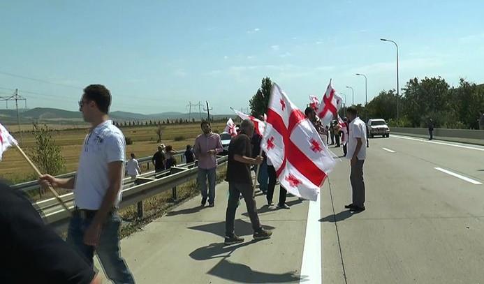 Gürcistan'da Rusya protestosu