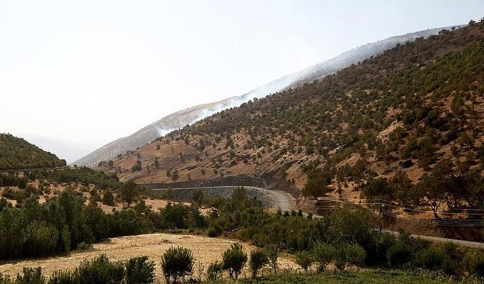 IKBY'nin dağlık bölgelerini bombalıyor
