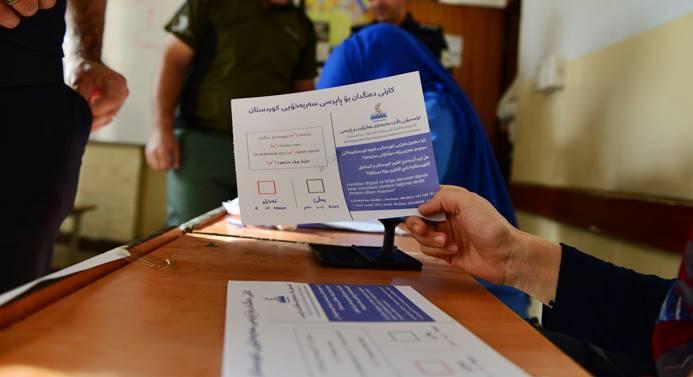 Kuzey Irak'taki tartışmalı referandum yapılıyor