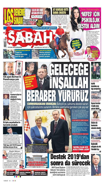 Günün gazete manşetleri (10 Ocak 2018)