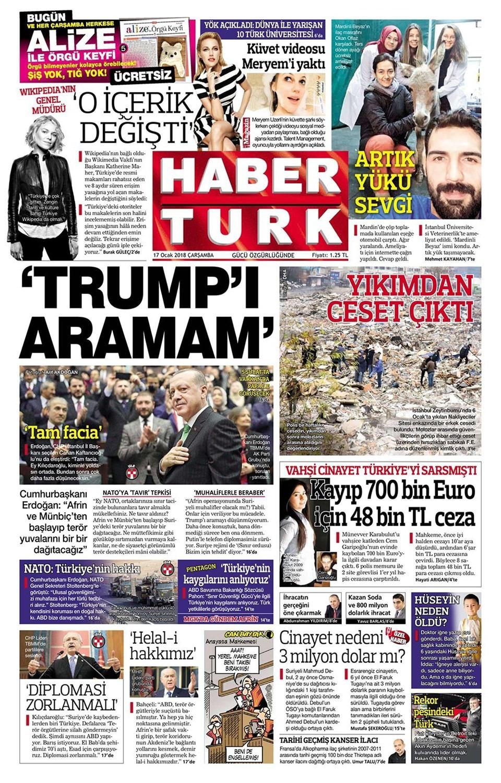 Günün gazete manşetleri (17 Ocak 2018)