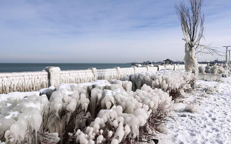 ABD'den kış manzaraları