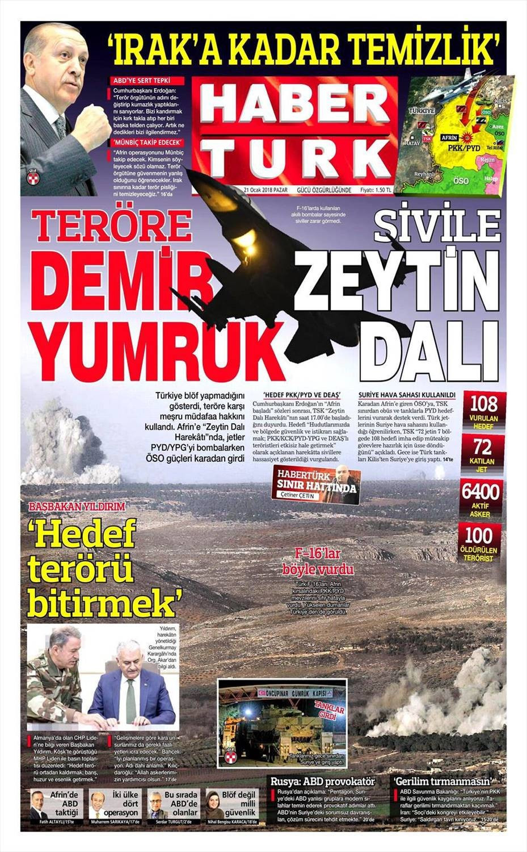 Günün gazete manşetleri (22 Ocak 2018)