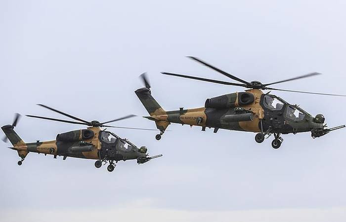 ATAK helikopterleri Afrin'i vuruyor