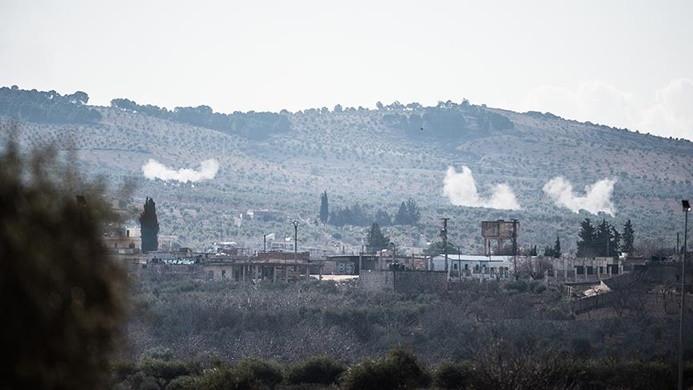 Afrin kırsalındaki terör mevzileri savaş uçakları ile vuruluyor