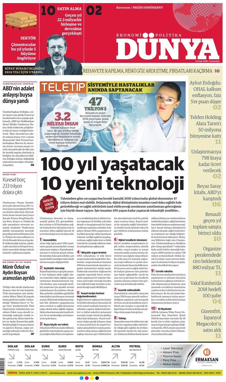 Günün gazete manşetleri (6 Ocak 2018)