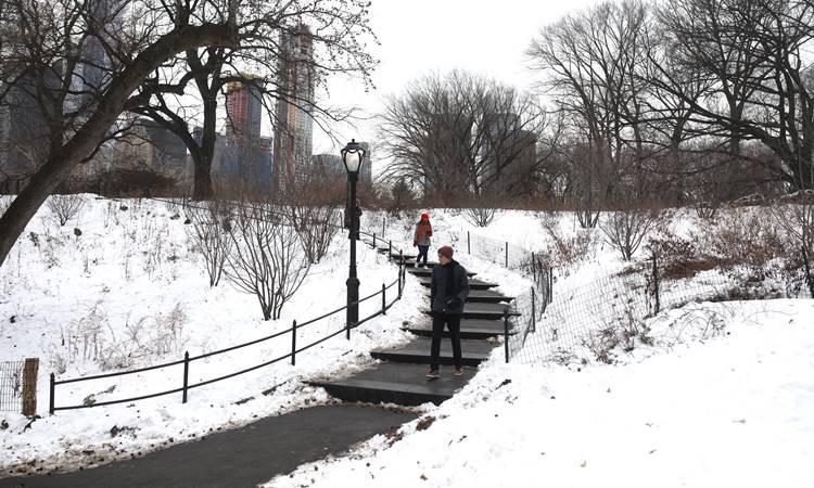 New York'tan kar manzaraları