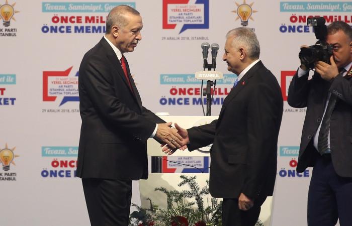 AK Parti'nin İstanbul Büyükşehir adayı Binali Yıldırım oldu