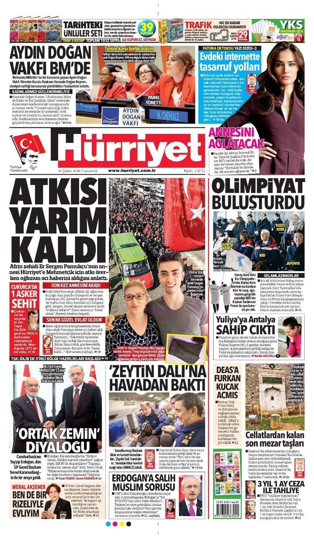 Günün gazete manşetleri (10 Şubat 2018)