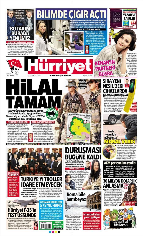 Günün gazete manşetleri (27 Şubat 2018)