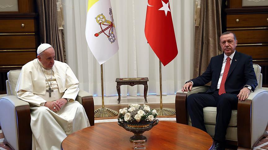 Erdoğan, Papa ile Kudüs'ü görüşecek