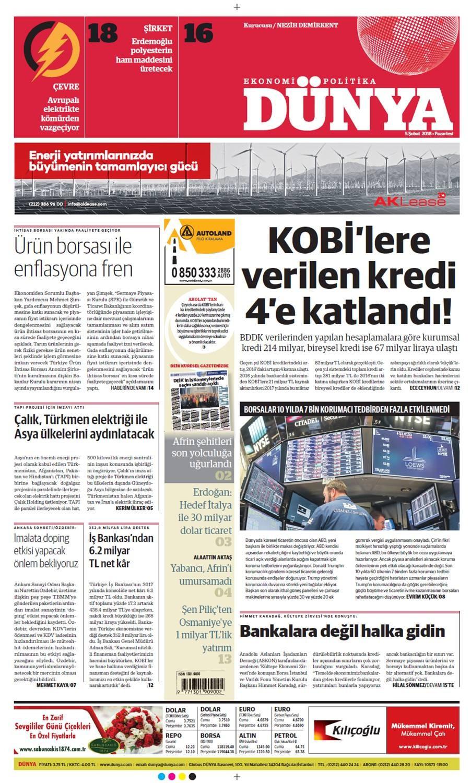 Günün gazete manşetleri (5 Şubat 2018)