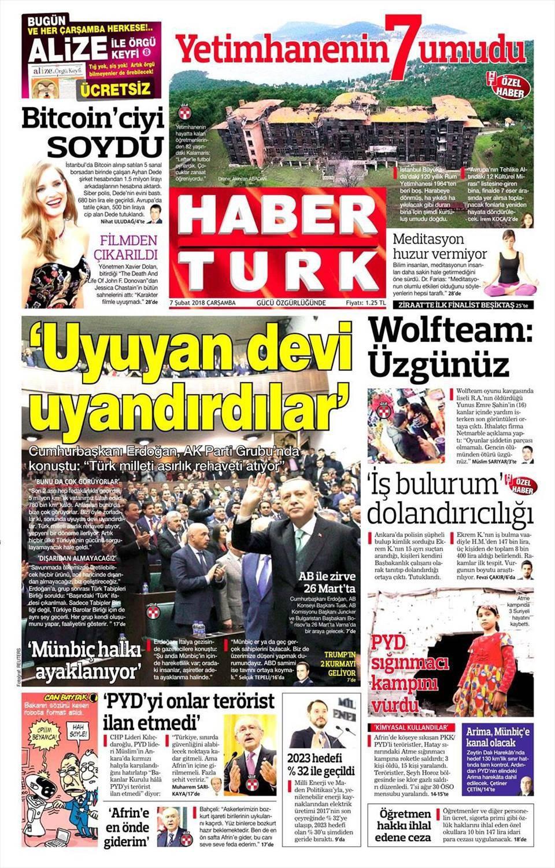 Günün gazete manşetleri (7 Şubat 2018)