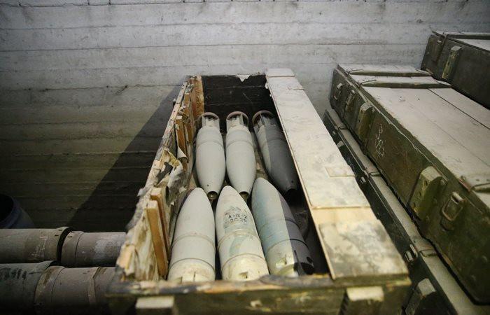 Afrin'de devasa mühimmat deposu bulundu